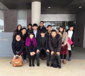 富士通、富士ゼロックス、ブリジストン、岡本硝子のエンジニア、人材開発などの皆様が関東から本学へ遥々お越しになられました。
